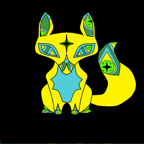 Gypsy Fox in Gold fabric by featheralchemist on Spoonflower - custom fabric