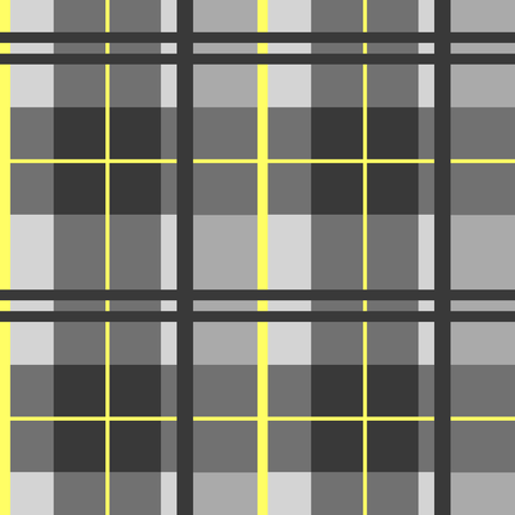 'Sunshine on my Shoulders' Tartan Plaid fabric by arts_and_herbs on Spoonflower - custom fabric
