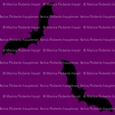 Cute bats on purple