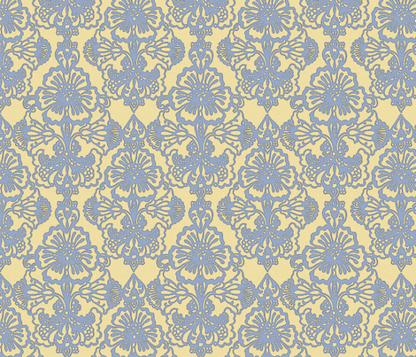 Cora Damask ~The Elizabeth fabric by peacoquettedesigns on Spoonflower - custom fabric
