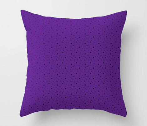 Charcoal Black Stars on Violet Purple