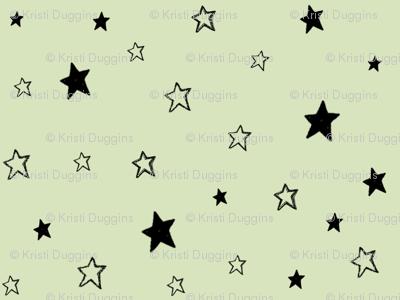 Black Stars on Green, Mint Chocolate Chip