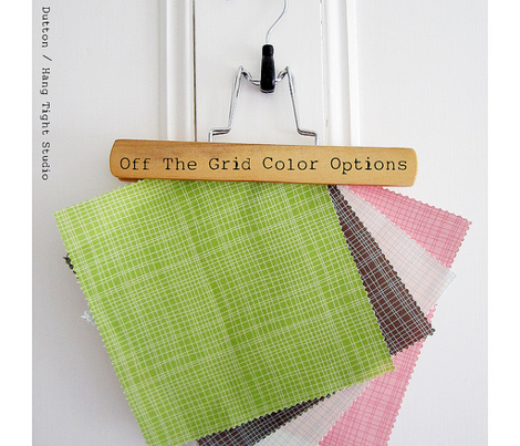 Off The Grid - Plaid Geometric Cream Teal