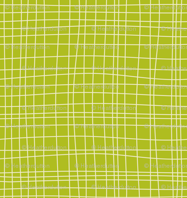 Off The Grid - Plaid Geometric Green