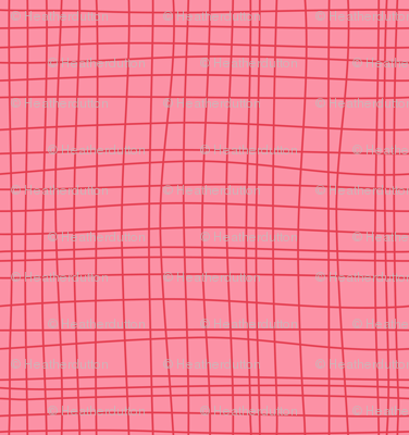 Off The Grid - Plaid Geometric Pink