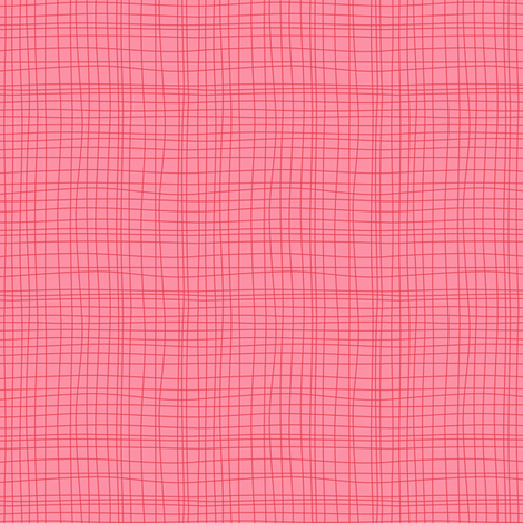 Off The Grid - Plaid Geometric Pink fabric by heatherdutton on Spoonflower - custom fabric
