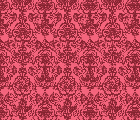 Cora Damask ~The Mary  fabric by peacoquettedesigns on Spoonflower - custom fabric