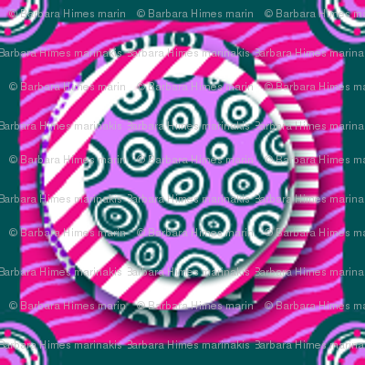 ZZ Kids Cheater Quilt: Stacked Circle Patches - SMALL