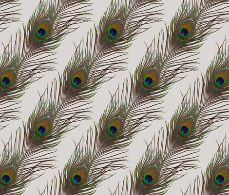 Silver Peacock Stripe fabric by peacoquettedesigns on Spoonflower - custom fabric