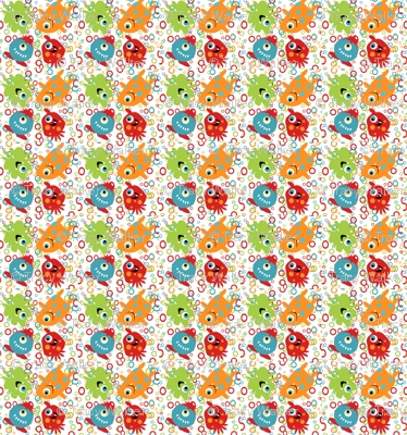 Monster fabric small rotation