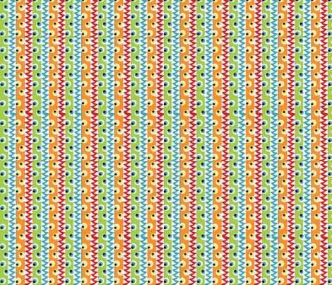 Monster eyes and teeth fabric by tracydb70 on Spoonflower - custom fabric