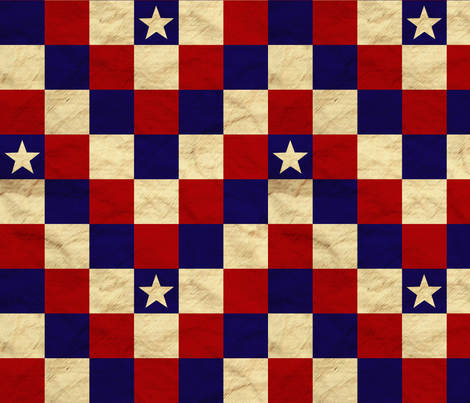 Patriotic Cheater Quilt - Stars fabric by sheila_marie_delgado on Spoonflower - custom fabric