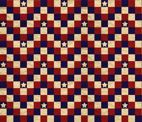Patriotic chevron star fabric by sheila's_corner on Spoonflower - custom fabric
