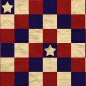 Patriotic chevron star