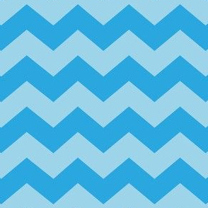 Zigzag Sea Chevrons (Aqua and Tropical Blue)