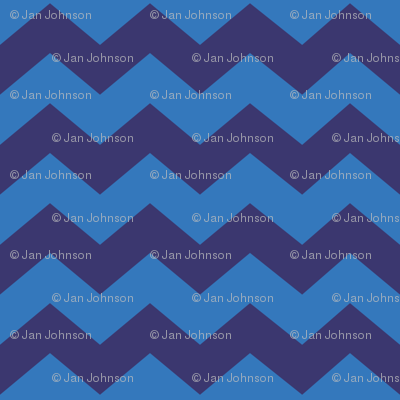 Zigzag Sea Chevrons (Indigo and Blue)
