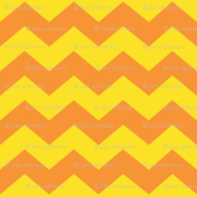 Zigzag Sea Chevrons (Orange and Yellow)