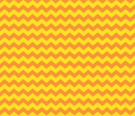 Zigzag Sea Chevrons (Orange and Yellow) fabric by hootenannit on Spoonflower - custom fabric