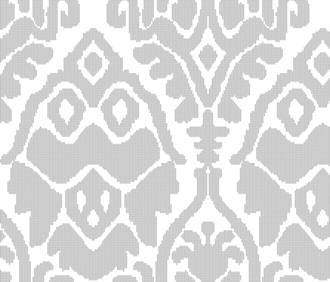 Typewritten X Ikat fabric by tinamhall on Spoonflower - custom fabric