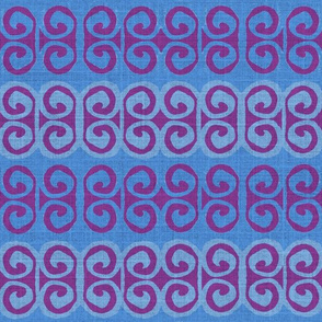 swirl in purple and blues