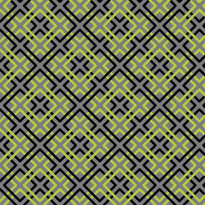 Modern Weave in Gray Background
