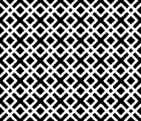 Weave Ikat _ Black and White fabric by pearl&phire on Spoonflower - custom fabric