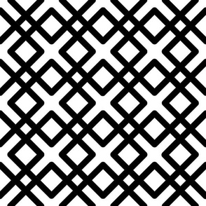 Modern Weave in black and white