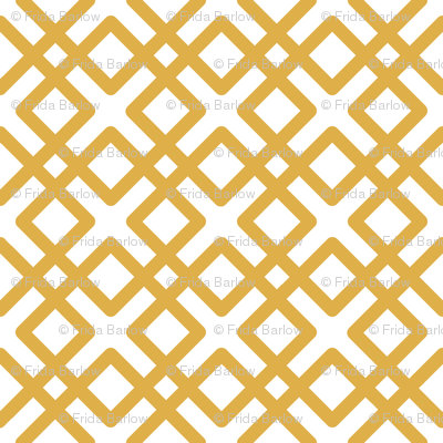 Modern Weave in Gold Yellow