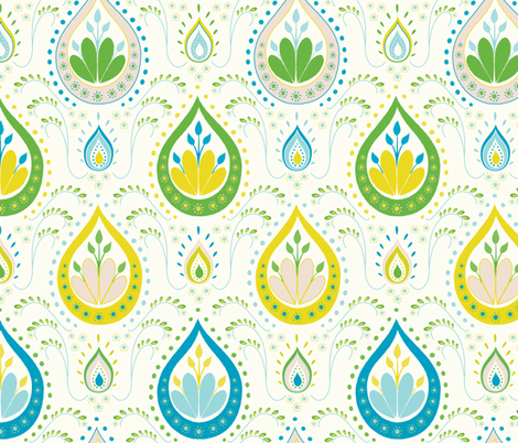 Bollywood - teal fabric by kayajoy on Spoonflower - custom fabric