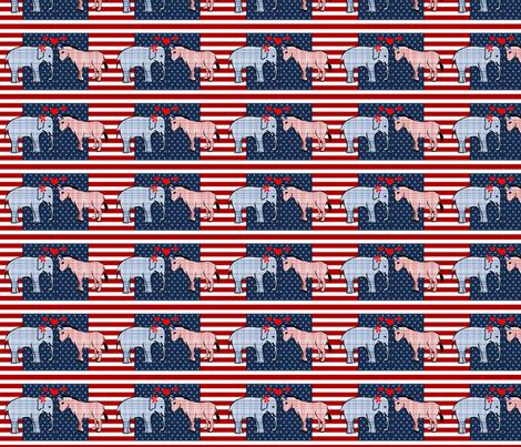 I Heart Politics fabric by ninjaauntsdesigns on Spoonflower - custom fabric
