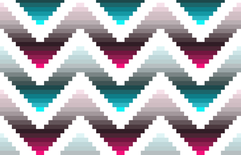 chevron cheater quilt patchwork solids fabric by katarina on Spoonflower - custom fabric