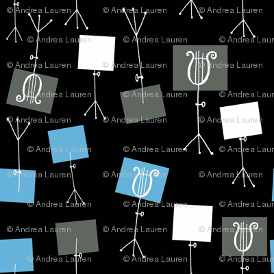 Music Stands - Black/Soft Blue/Champagne