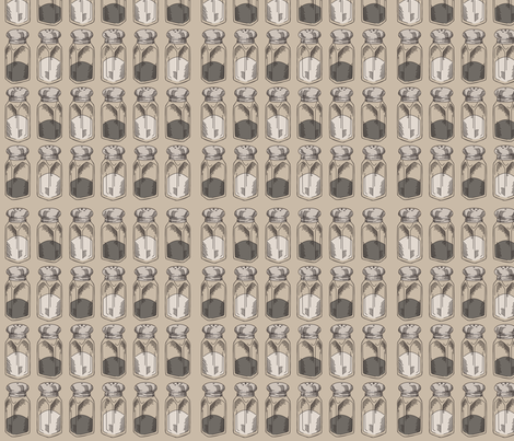 Salt & Pepper fabric by urban_threads on Spoonflower - custom fabric