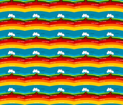 Volcanic Earth fabric by ninjaauntsdesigns on Spoonflower - custom fabric