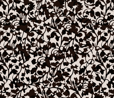 Earth_Black fabric by garimadhawan on Spoonflower - custom fabric