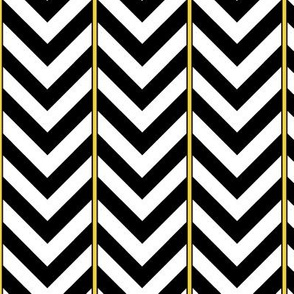 Broken Chevron with Yellow