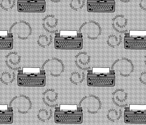 Inspired Typewriters in Houndstooth fabric by kathyhoos on Spoonflower - custom fabric