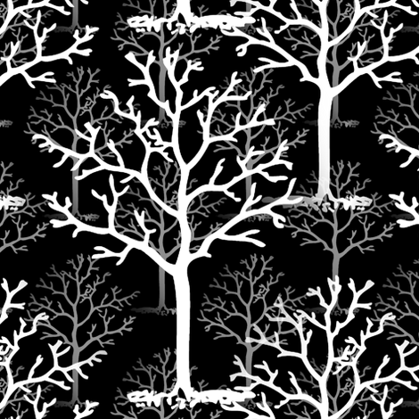 The White Ash Tree Forest fabric by peacoquettedesigns on Spoonflower - custom fabric