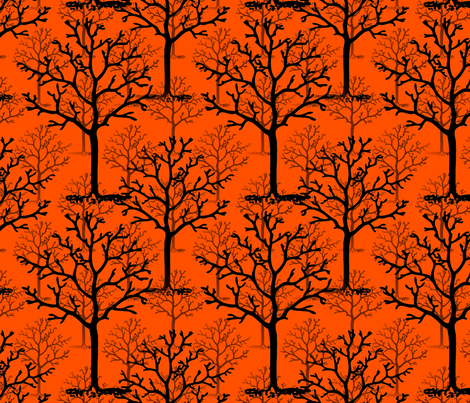 Halloweentown Forest Reverse fabric by peacoquettedesigns on Spoonflower - custom fabric