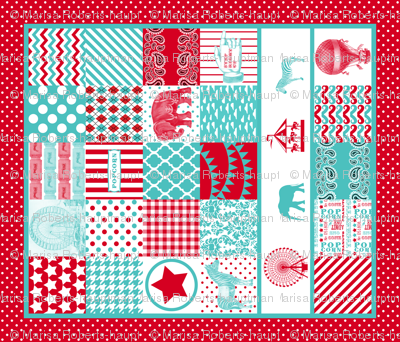 Carnival cheater quilt