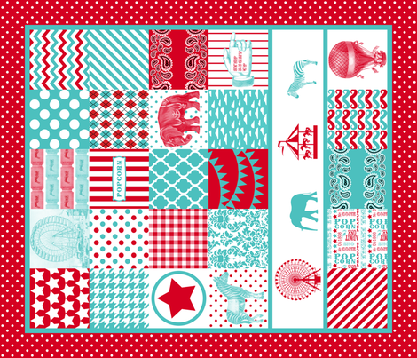 Carnival cheater quilt fabric by risarocksit on Spoonflower - custom fabric