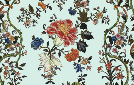 Rococo column embroideries, c. 1720-40 fabric by bonnie_phantasm on Spoonflower - custom fabric