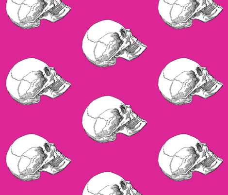 Yorick! Pink fabric by peacoquettedesigns on Spoonflower - custom fabric