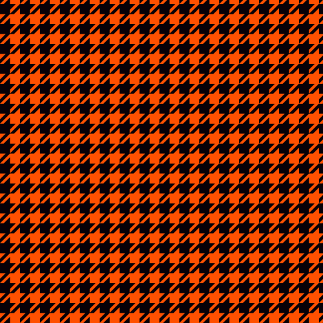 The Houndstooth Check - This Is Halloween! fabric by peacoquettedesigns on Spoonflower - custom fabric