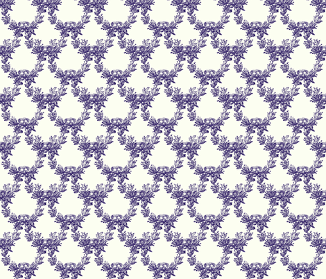 Blue & White Romantic Swag fabric by peacoquettedesigns on Spoonflower - custom fabric