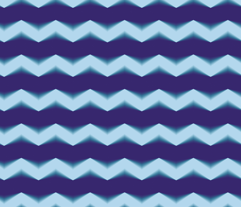 Blue 3d Chevron and Bands fabric by animotaxis on Spoonflower - custom fabric