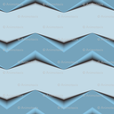 Gray-Blue 3d Chevron and Gray Bands