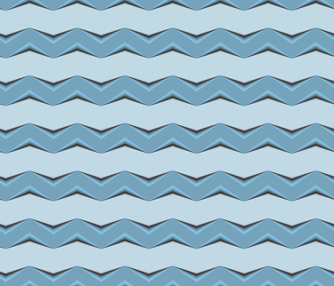 Gray-Blue 3d Chevron and Gray Bands fabric by animotaxis on Spoonflower - custom fabric