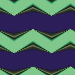 Lime Moss 3d Chevron and Blue Bands