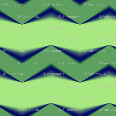 Lime Green 3d Chevron and Emerald Green Bands